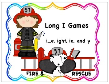 Long I Learning Board and Card Games