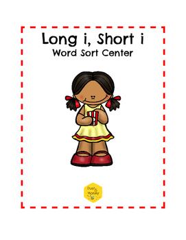 Long I, Short I Word Sort Center