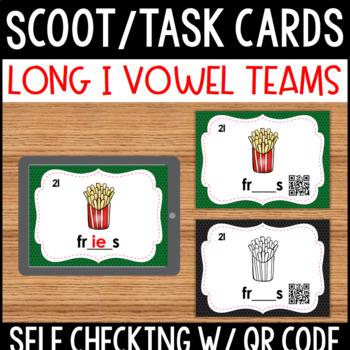Long I Vowel Team Task Cards with QR Code