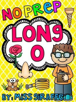 Long O Worksheets and Activities {NO PREP!}