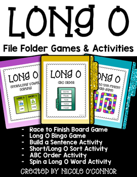 Long O File Folder Games and Activities