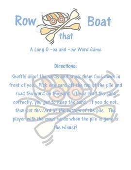 Long O- Row That Boat