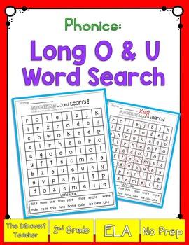 Long O & U Word Search