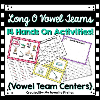 Long O Vowel Team Centers/Word Work