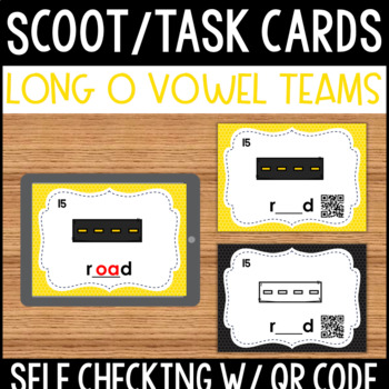 Long O Vowel Team Task Cards with QR Code