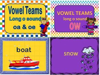 Long O Vowel Teams OA, OE, OW Power Points & Printables