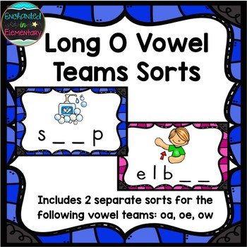 Long O Vowel Teams Sort