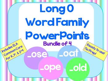 Long O Word Family PowerPoints Bundle Reading/Phonics for