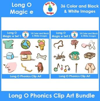 Long O (magic e) Phonics Clip Art Bundle