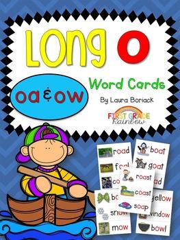 Long O oa & ow Word Cards