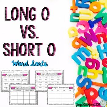 Vowels: Long O Vs. Short O Word Sorts