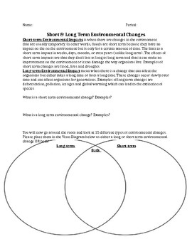 Long & Short Environmental Changes Activity/ Peppered Moth