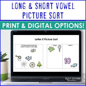 Long & Short Vowel Sort Literacy Center
