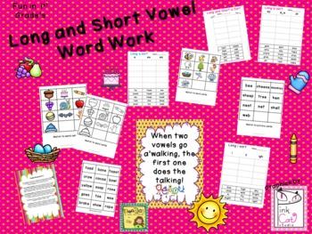 Long & Short Vowel Word Work