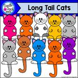 Long Tail Cats Clip Art Set - Doodle Patch Designs