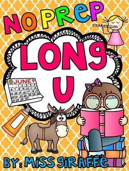 Long U Worksheets and Activities {NO PREP!}