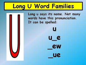Long U Word Families