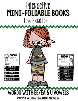 Long U and Long E Mini Flip Book Foldable