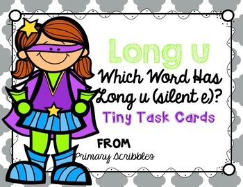 Long U (silent e) Tiny Task Cards