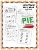 Long Vowels A, E, I, O and U Word Work Bundle! (Common Cor