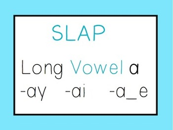 Long Vowel A: Slap Game