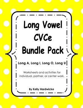 Long Vowel CVCe Bundle Activities and Worksheets