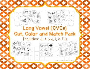 Long Vowel (CVCe) Color, Cut and Match Pack