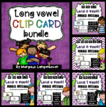 Long Vowel Clip Card Bundle