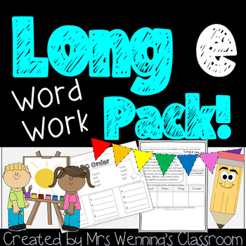Long E (ee, ea) - a Full Week of Lesson Plans, Word Work,