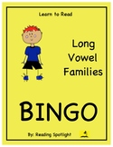 Reading Game: Long Vowel Families (Learn to Read Bingo)