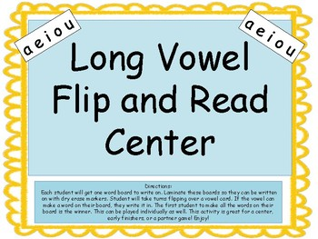 Long Vowels Flip and Read Game