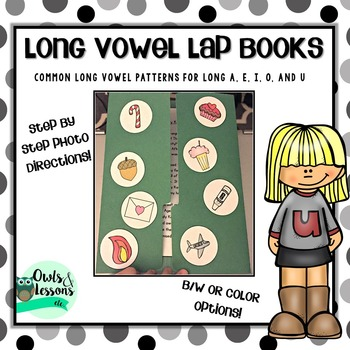 Long Vowel Lap Books for Common Long Vowel Patterns