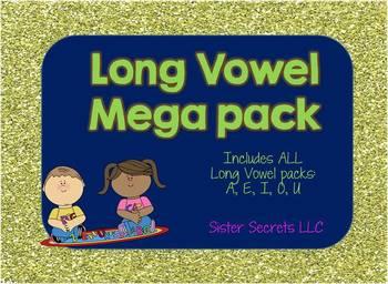 Long Vowel Megapack--ALL Vowels included: A,E,I,O,U