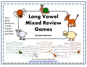 Long Vowel Mixed Review Games