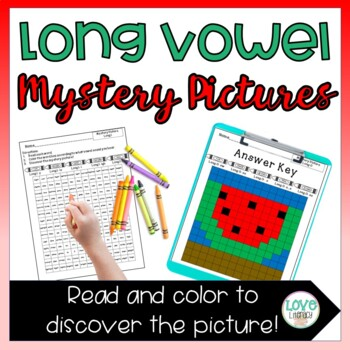 Phonics Mystery Pictures: Long Vowels