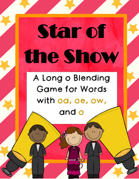 Long Vowel O Blending Practice Game (oe, ow, o, oa)