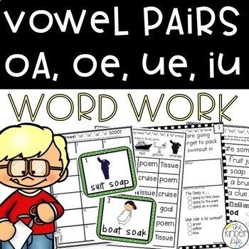 Long Vowel Pairs oa, oe, ue, ui Phonics Suitcase: 8 Print