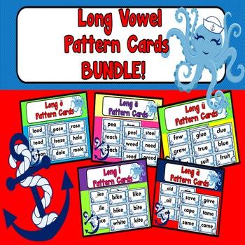 450 Long Vowel Word Sort Cards Ocean Theme