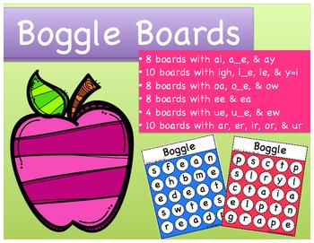 Word Work: Long Vowel Patterns & R-Controlled Vowels Boggl