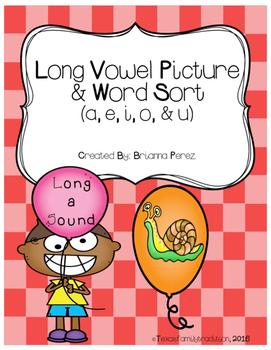 Long Vowel Picture & Word Sort Bundle
