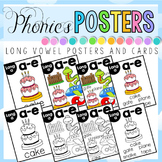 Long Vowel Posters and Cards BUNDLE FLASH FREEBIE