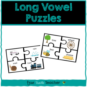 Long Vowel Puzzles (A, E, I, O, U) - Center Activity
