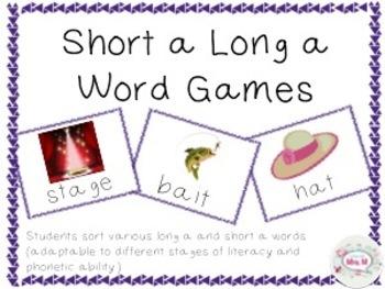 Long Vowel Short Vowel Sort A