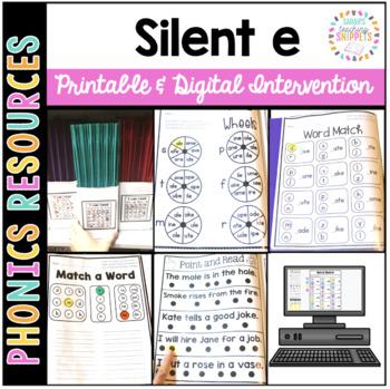 Long Vowel Silent e Printable Intervention