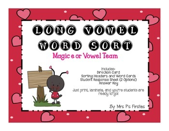 Long Vowel Sort - Magic e or Vowel Team