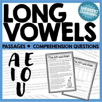Long Vowel Sounds - A, E, I, O, U Reading Passages and Com
