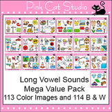 Long Vowels Clip Art Mega Value Pack - Phonics Clipart Set