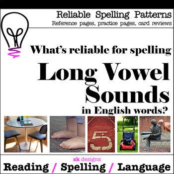 Long Vowel Reliable Spellngs Syllable Skills Reference Pag
