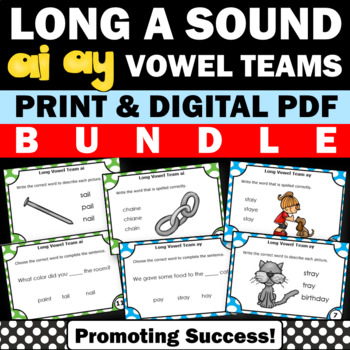 Long Vowels a Teams { ay ai } Bundle of Phonics Activities