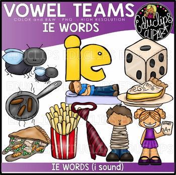 Long I Vowel Team 'ie' (i sound) - Clip Art Bundle {Educli